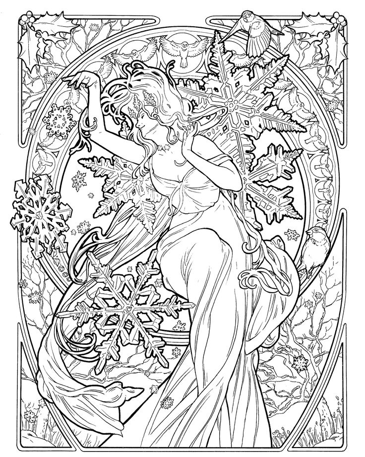 art nouveau coloring pages - photo#16