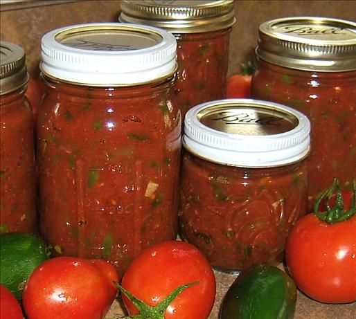 My home teacher brought bags and bags of tomatoes and hot peppers from his garden tonight. I plan on canning a giant batch of this salsa tomorrow.