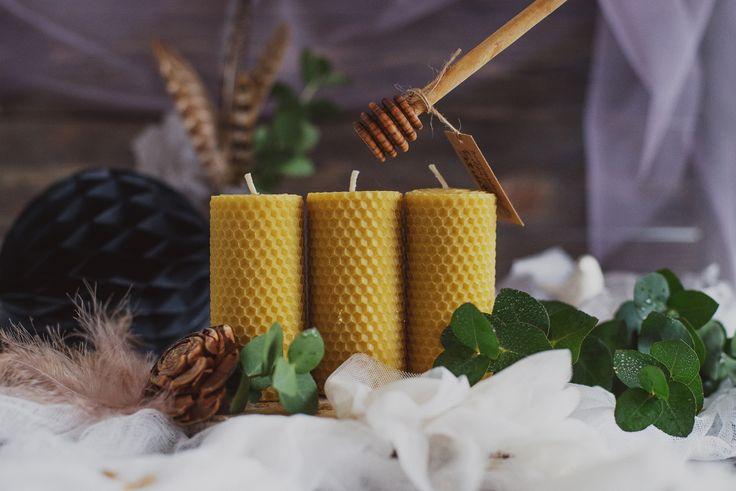 """Набор свечей из вощины """"Невесомость"""" в магазине «Luna_maison» на Ламбада-маркете"""