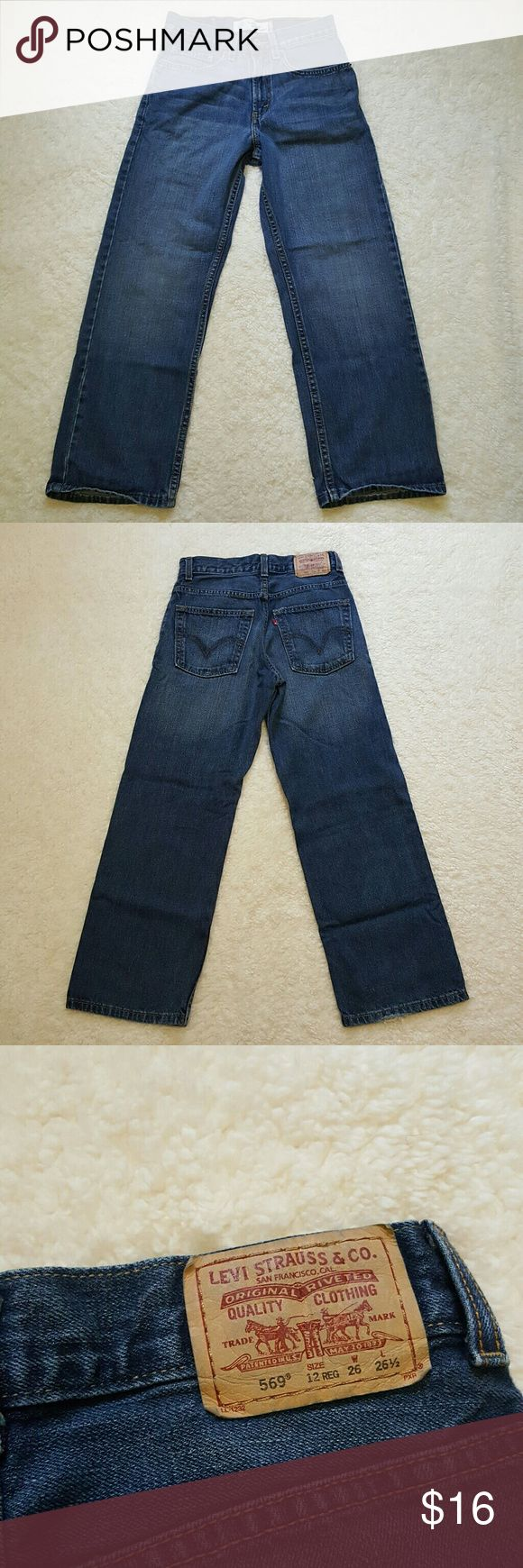 Boy's Levi's 569 Loose Straight Blue Jeans Good Condition. Some Signs Of Wear. Levi's Bottoms Jeans