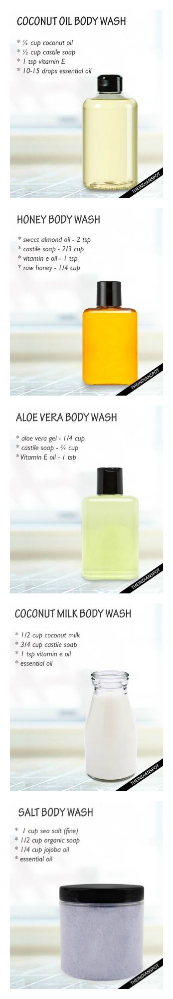 DIY Bodywash Recipes