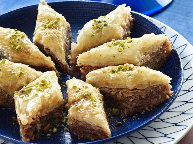 Baklava from FoodNetwork.com This reminds me of the Greek Festival...this is going to get made at my house!
