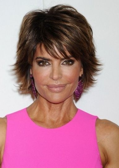 Here Lisa Rinna showed off her latest hairstyle at the QVC Red Carpet Style Event wearing her hair in a sexy layered hairstyle. Description from stylesweekly.com. I searched for this on bing.com/images