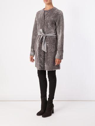 Drome abrigo de lana de oveja con cinturón