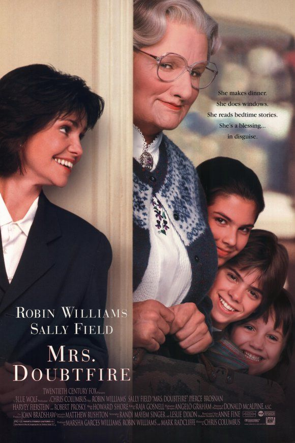 Mrs. Doubtfire - 1993 - My brother and I wore our VHS tape OUT! Love this movie.