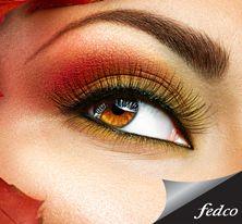 Este es el tipo de maquillaje que predomina en primavera. #Makeup #Orange #Colors http://tienda.fedco.com.co/Catalogo/marcas/busqueda/Diego%20Dalla%20Palma