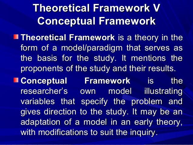 Theoretical Framework vs Conceptual Framework