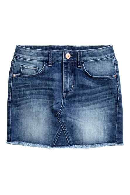 Jupe en jean avec base à cru
