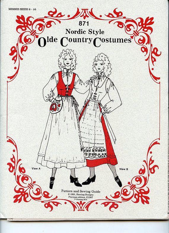 Scandinavian Nordic Style Olde Country Costume by GiftChaletAuburn, $16.00