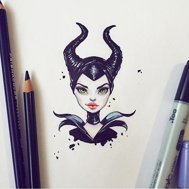 #mulpix  #Draw  #desenhos  #art  #artista  #like  #Follow  #followme  #linda  #malevola  #perfeito  #desenho  #drawing . By ✅ @lera_kiryakova ✅ . Adm  @vandinho.c