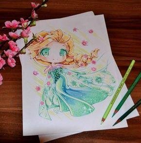 princesas disney tiernas dibujo Lighane-8