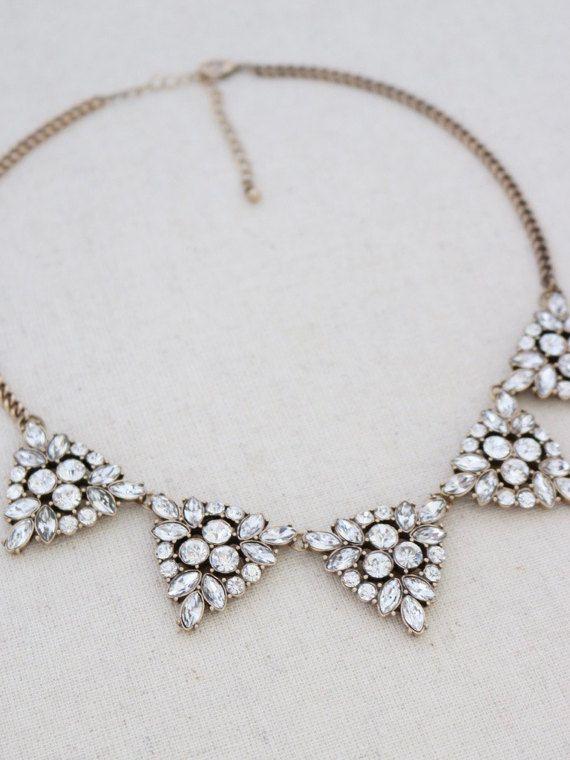 Crystal statement necklace statement necklace gold statement