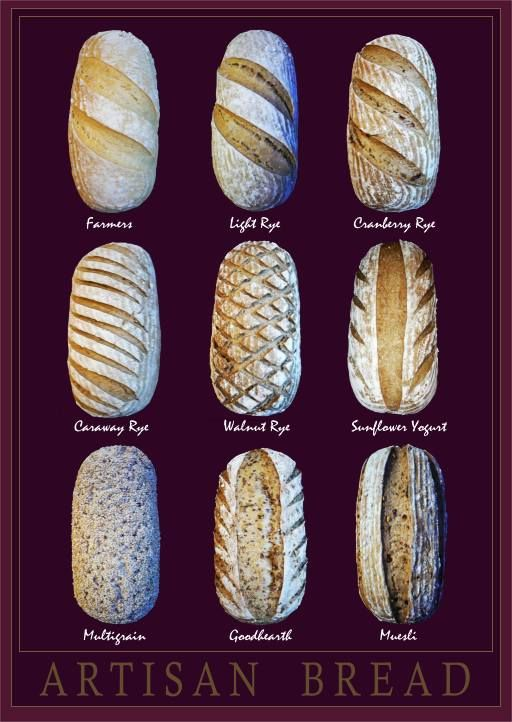 pain artisanal / artisan bread scoring patterns
