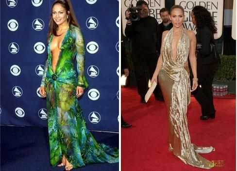 Зеленое платье версаче