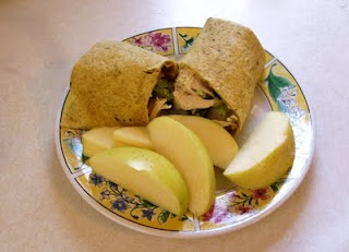 """Healthy """"Regular Chicken Wrap""""  recipe. Easy, simple and only 210 calories. And it's full of fiber and protein!"""
