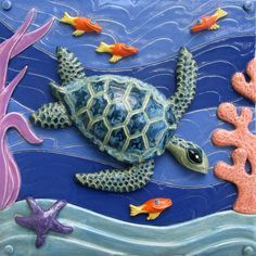 paintings of sea turtles | Playful Art for Healing Spaces: Part Two