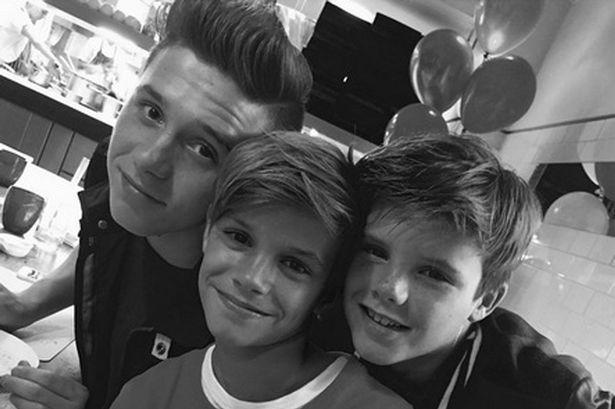 Beckham boys.