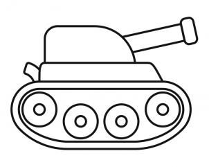 how to draw a tank for kids - Simple Drawing For Kid