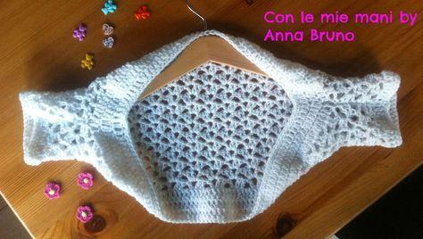 Con le mie mani by Anna Bruno: Tutorial coprispalle crochet coprispalle baby crochet