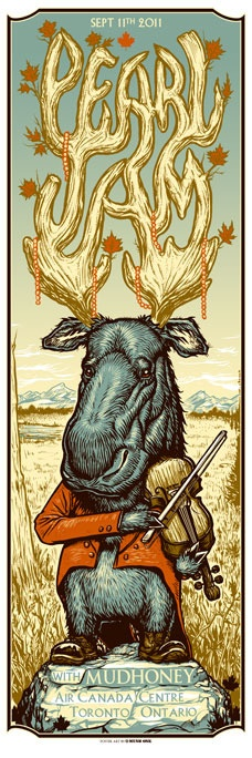 Pearl Jam.  Air Canada Centre, Toronto, ON, Sept 11, 2011.  Opening Band: Mudhoney. (Artist: Munk One)