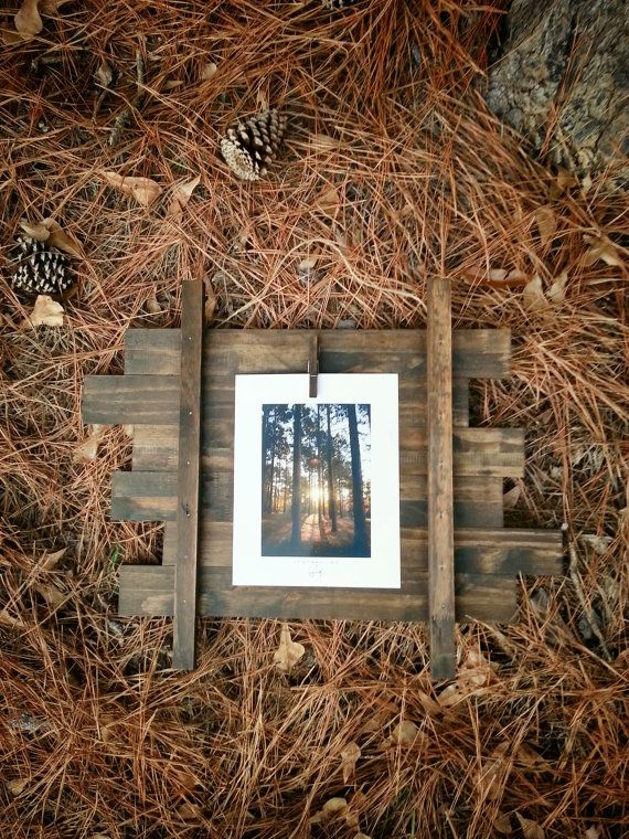 Clotheslined. Hand Crafted Wooden Photo Frame by JackRobert7