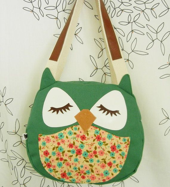 Applique owl tote bag - so cute!