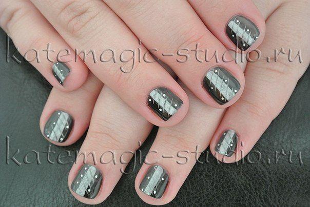 Маникюр, нейл-арт, градиент, дизайн ногтей, рисунок на ногтях, shellac, шеллак.  Студия KateMagic
