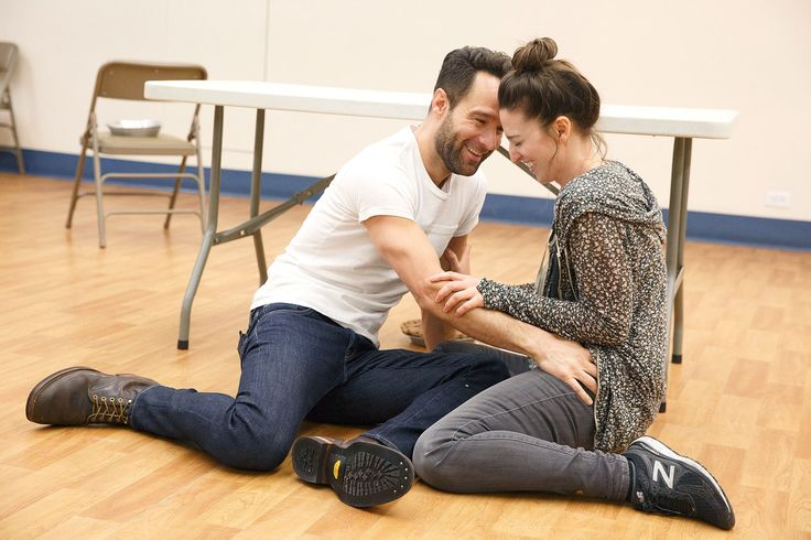 PEOPLE's got the first look at Sara Bareilles in rehearsal for her upcoming Broadway acting debut inWaitress