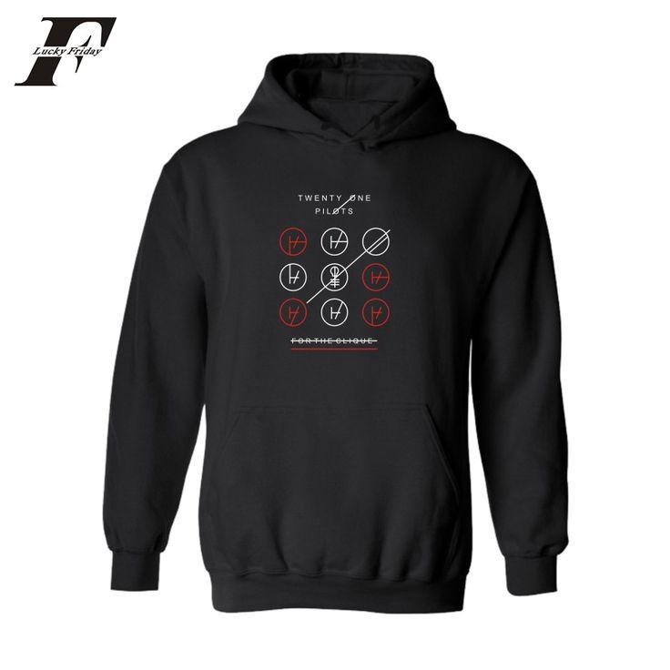 >> Click to Buy << LUCKYFRIDAYF Rock Band Twenty One Pilots Cotton Harajuku Sweatshirt Men xxl in Street Wear Mens Hoodies and Sweatshirts #Affiliate