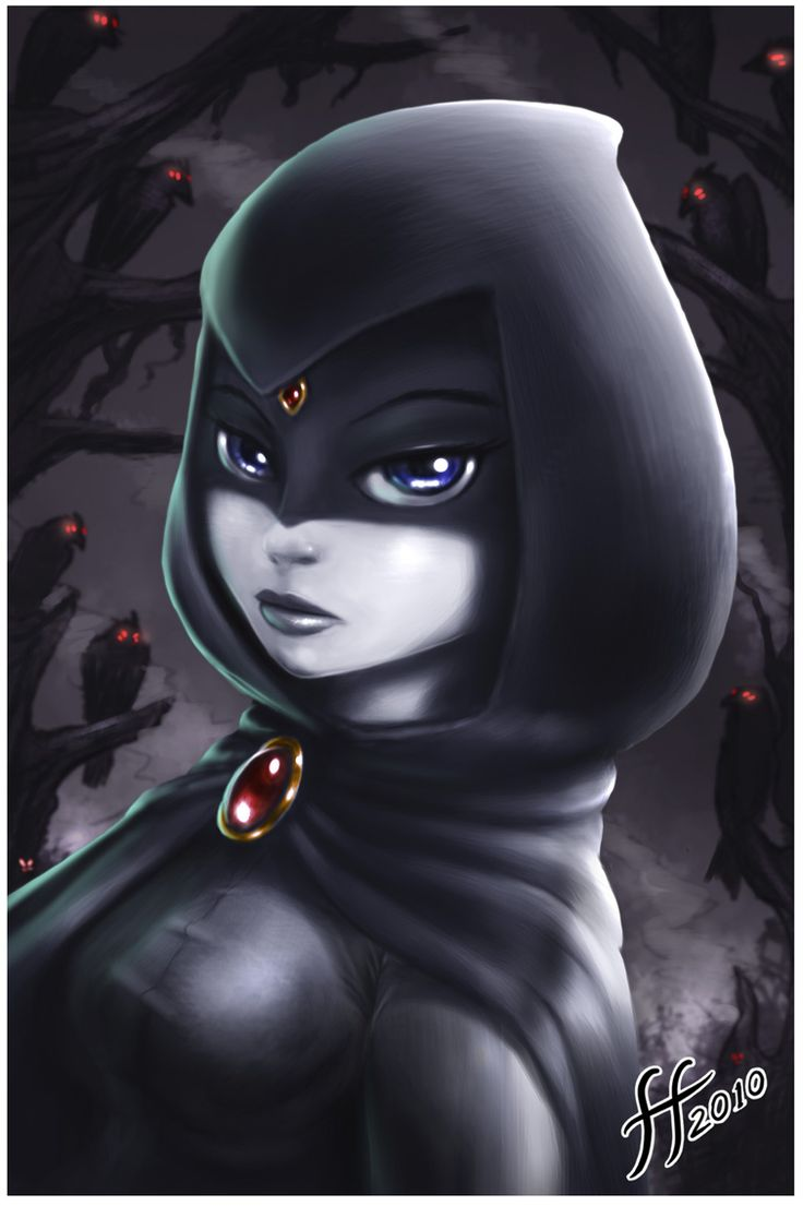 Hooded raven by 14-bis.deviantart.com I really love this pic its so smooth and the art style is amazing