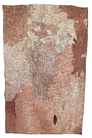 Pink diptych II by Nyapanyapa Yunupingu. 2015.