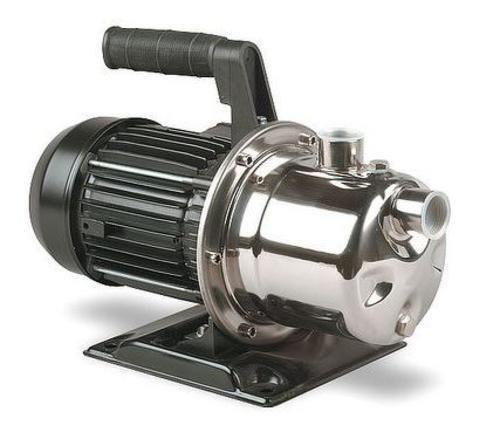 Simer 2825SS Portable Utility Transfer Sprinkler Pump, 1HP, Stainless Steel