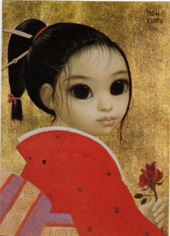 """Soonie's Rose"" by Margaret Keane"