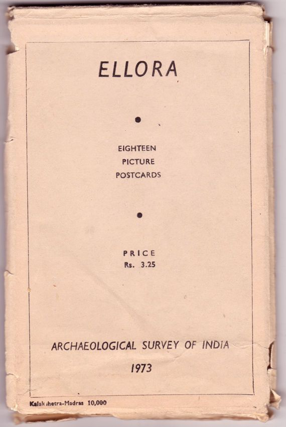 Ellora India 18 picture postcard of archaeological survey 1973c Kalakshetra Vi35