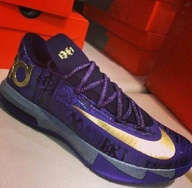 Fast Shipping Nike KD 6 BHM Purple Venom Metallic Gold-Purple Dy