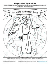Angel Story Color By Number Activity Jesus Coloring PagesNumber