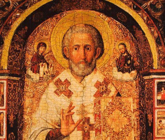 Saint nicholas paint byzantine iconography art orthodox