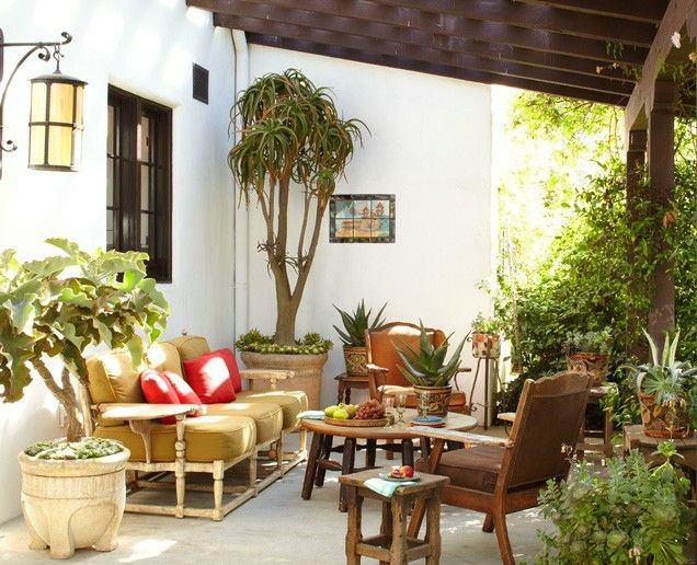 Spanish Hacienda EXTERIOR U2013 SEATING AREA Classic Vintage Monterey Colonial  Furniture Was Collected For This Seating
