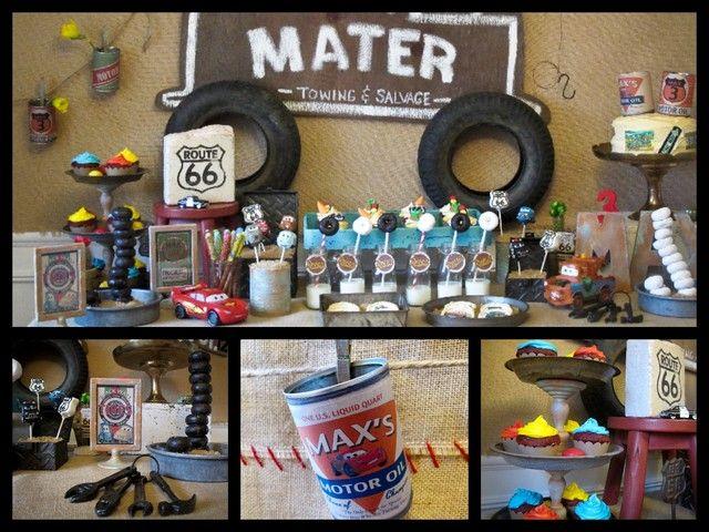 "Photo 32 of 45: Vintage Radiator Springs Birthday Party / Birthday ""Vintage Cars Radiator Springs Birthday Party"""