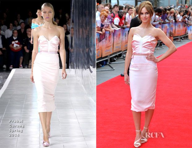 Hannah Tointon In Prabal Gurung – 'The Inbetweeners 2′ World Premiere
