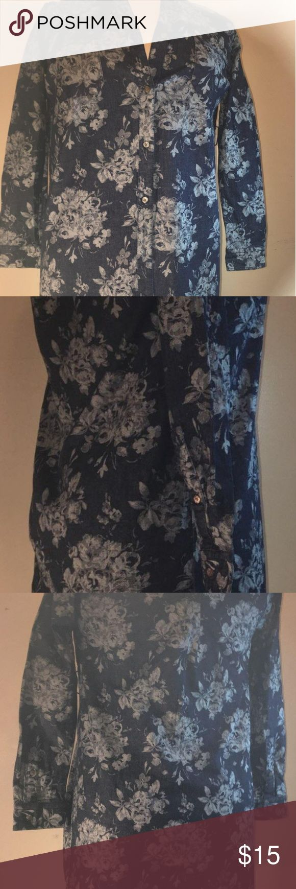 The 25 best denim maternity dresses ideas on pinterest summer gap maternity dress size small floral ombrellifo Image collections