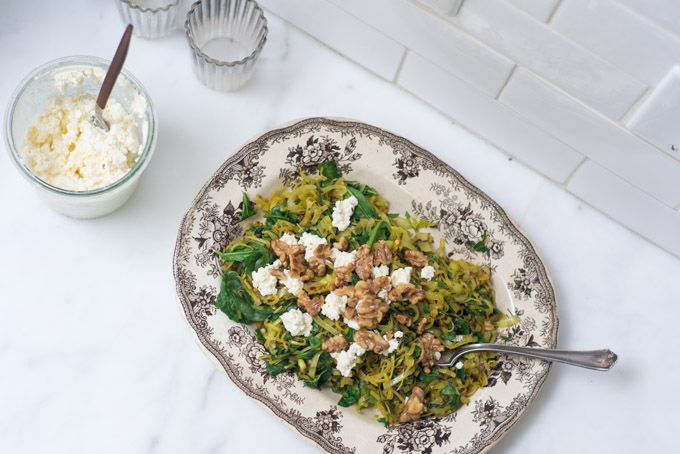 Spiced Spinach with Walnuts | Spinach, Spinach Recipes and Feta