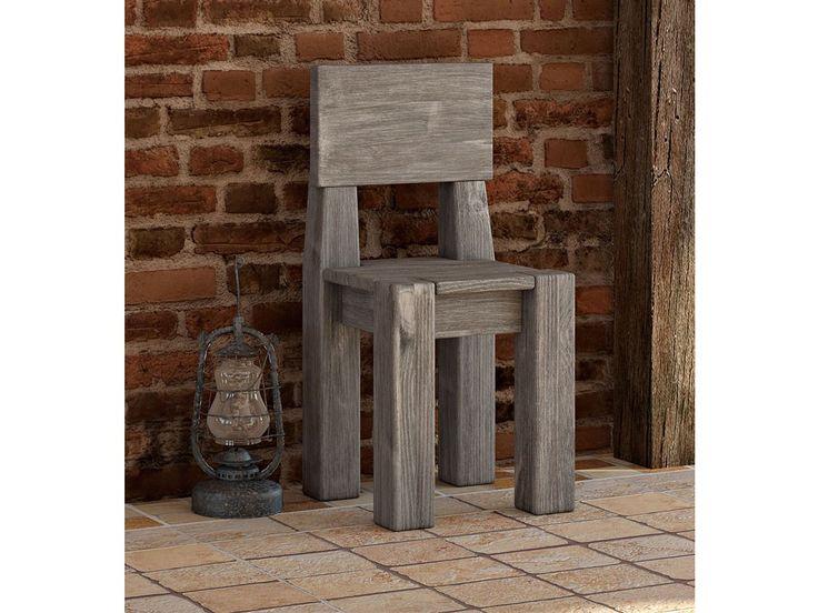 Rustykalne masywne krzesło Country 22