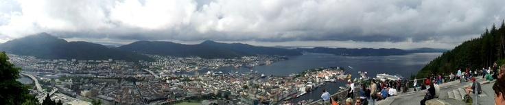 Bergen panoramica dal punto più altro della funicolare. (Samsung S2)