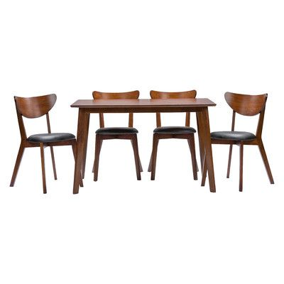 Wholesale Interiors Baxton Studio Sumner 5 Piece Dining Set | AllModern