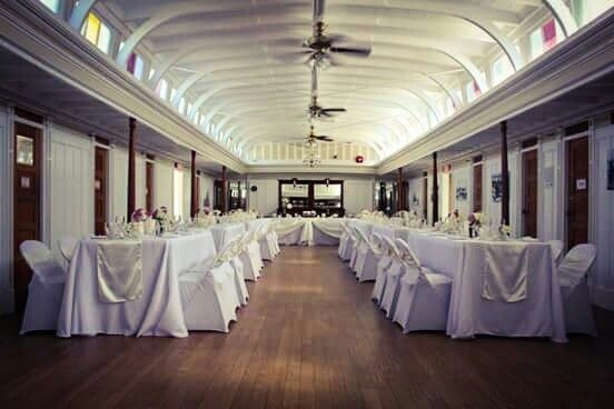 Dinner reception on a historic venue in Penticton - the SS Sicamous
