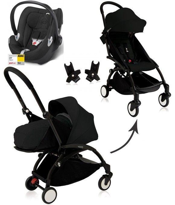 Poussette YOYO+ Babyzen complète noir châssis noir cybex siege auto aton q cmonpremier.com