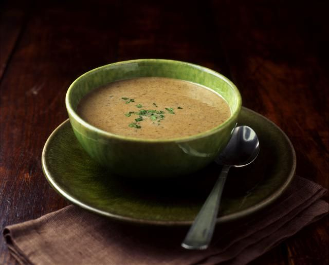 This rich, delicious maitake and mushroom soup is layered with complex flavors. An optional splash of cognac is a flavorful nod to French cooking.