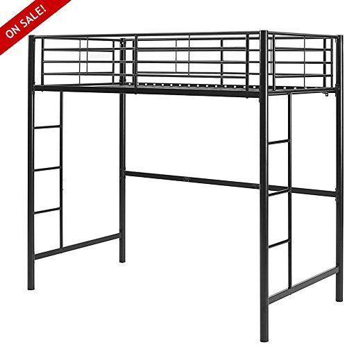 Dorm Loft Bed Frame With Ladder Modern Industrial Loft Be Https