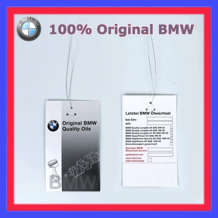 1X Original BMW Ölzettel Ölwechselzettel Ölwechselanhänger Ölanhänger 1er 3er in Auto & Motorrad: Teile, Auto-Ersatz- & -Reparaturteile, Inspektionspakete & -kits | eBay